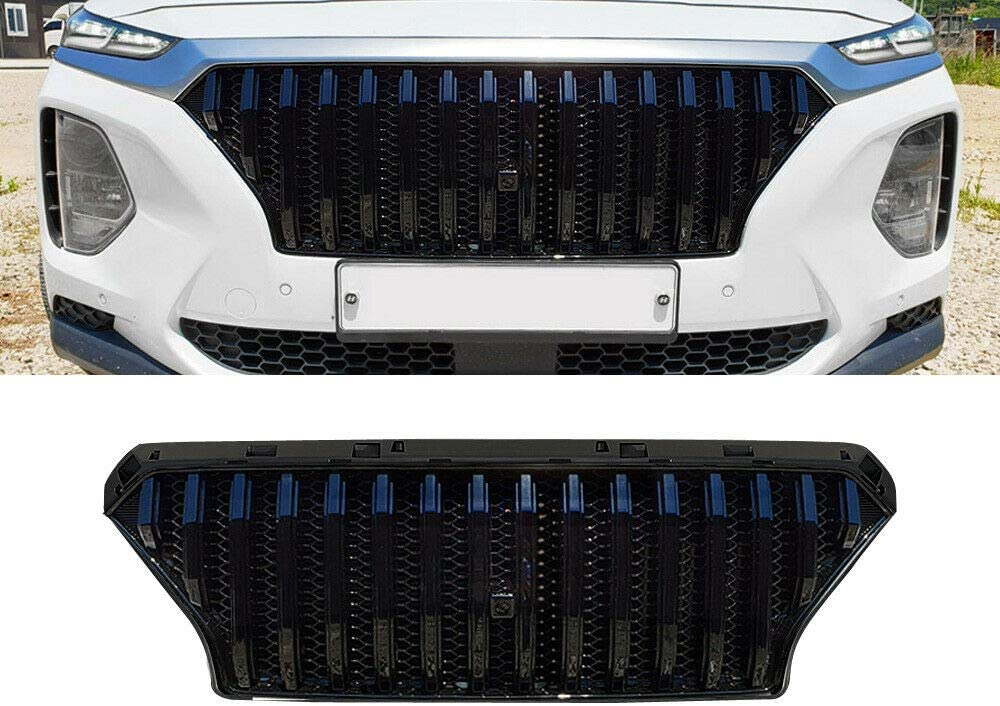 Front Grille Mesh Grill Bar Vent Trim Chrome Fits for H yundai <font><b>Santa</b></font> <font><b>Fe</b></font> <font><b>TM</b></font> <font><b>2019</b></font> 2020 2021 image