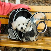Expandable Cat Backpack Space Capsule Transparent Pet Carrier for Small Dog Hiking Travel Bag F42A