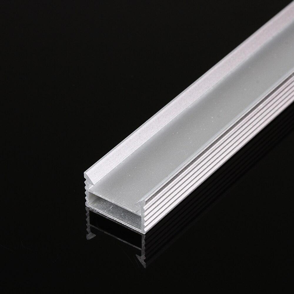 10 ~ 30 pièces 1M U profilé en aluminium Style 100cm porte chaîne en Aluminium pour LED barre de lumière de bande sous