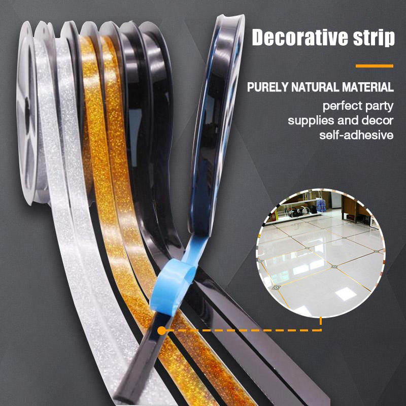 6 Meters New Home Decor Gap Sealing Foil Tape Waterproof Gold Silver DIY Copper Foil Strip Wall Sticker Floor Seam Sticker GQ image