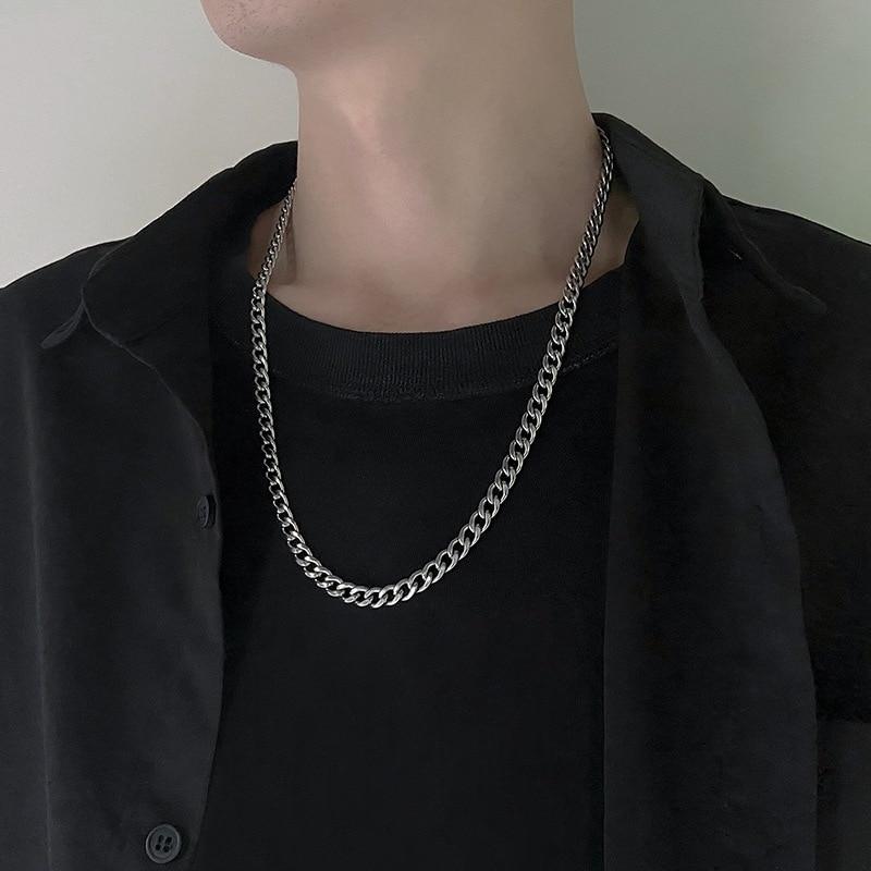 נירוסטה שרשרת שרשראות לנשים גברים ארוך היפ הופ שרשרת על צוואר תכשיטים אביזרי חברים מתנות
