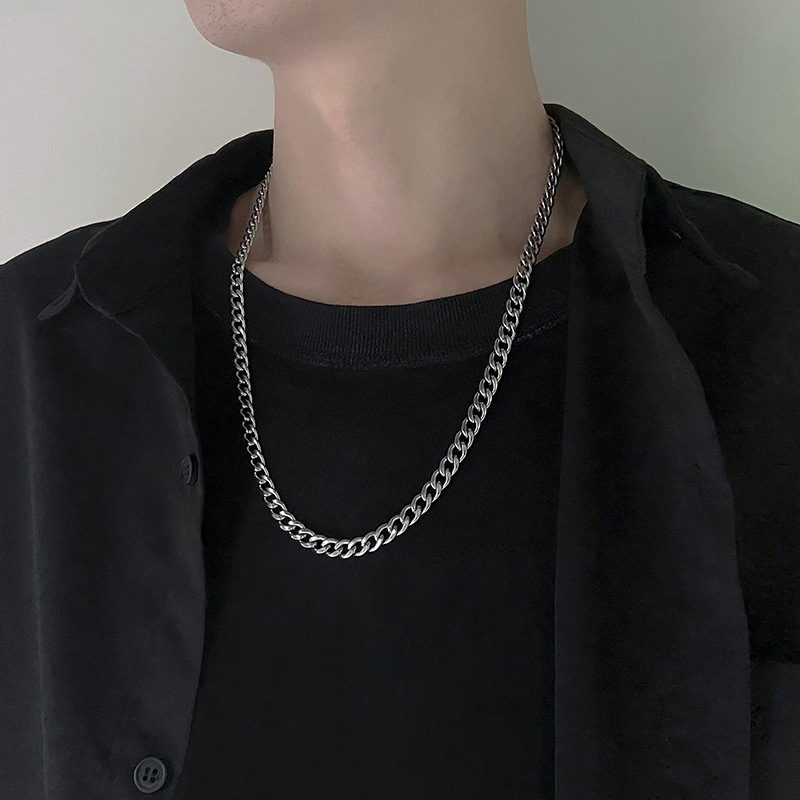 Stainless Steel Chain Necklaces for Women Men Long Hip Hop Necklace On The Neck Fashion Jewelry Accessories Friends Gifts