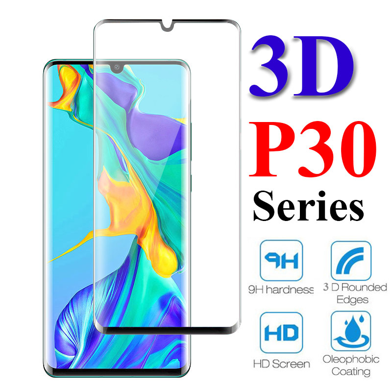 Full Coverage Tempered Protective glass on For <font><b>Huawei</b></font> <font><b>p30</b></font> 20 Lite <font><b>Screen</b></font> <font><b>Protector</b></font> glas for <font><b>huawei</b></font> huawey <font><b>p30</b></font> pro light film 9h image