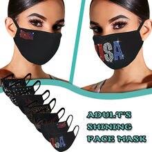 7pc adulto strass máscara feminina escape protetor solar máscara facial moda ao ar livre respirável ciclismo mascarilla bocas laváveis