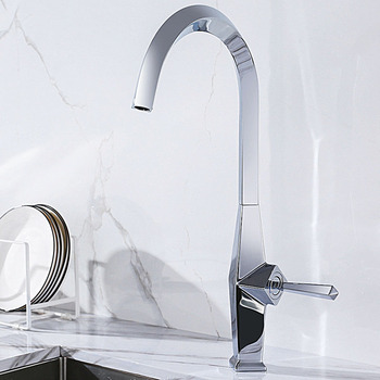 Matt Black/Chrome Plated Brass Single Handle Kitchen Mixer Cold And Hot Water Tap Deck Mounted Kitchen Sink Faucet Tap brass mixer tap cold and hot water kitchen faucet multifunction brass body chrome sink faucets kitchen sink tap