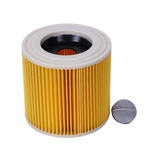 цена на TOP quality replacement air dust filters bags for Karcher Vacuum Cleaners parts Cartridge HEPA Filter WD2250 WD3.200 MV2 MV3 WD3