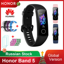 سوار ذكي من Huawei Honor Band 5 /5i/ 4/ 4e/جهاز تتبع اللياقة البدنية العالمي للأوكسجين في الدم جهاز مراقبة معدل ضربات القلب 50 متر مقاوم للماء