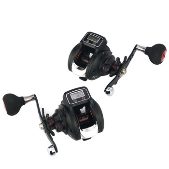 Baitcasting Fishing Reel with Line Counter 13+1 Shielded Ball Bearings 6.3:1 Gear Ratio Fishing Reels with Crank Handle  X85
