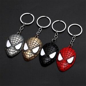 Новый металлический брелок Marvel, Мстители, Человек-паук, мультяшная фигура, супергерой, Человек-паук, подвеска, брелок с кольцом для ключей, п...
