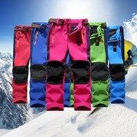 Pantalon De Ski Pour Enfant Winter Children Outdoor Snowboard Pants Windproof Fleece Winter Snow Girls Boys Camping Hiking Pants