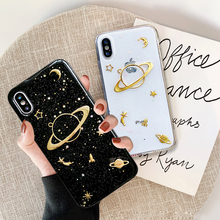 Luxury Glitter Bling Mobile Phone Case For iPhone X XS Max XR 7 8 6 6s Plus Space Planet Cover For Apple iPhone 7Plus Back Cases luxury glitter cute space planet phone case for iphone x xr 11 pro xs max 7 8 plus soft silicon back cover for iphone 6 6s 7plus