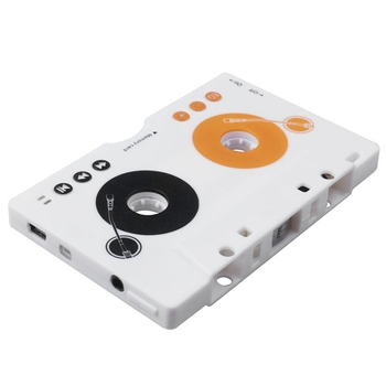 Car Tape SD MMC MP3 Tape Player Adapter Kit with Remote Control Stereo Audio Cassette Tape Adapter Player EU Plug image