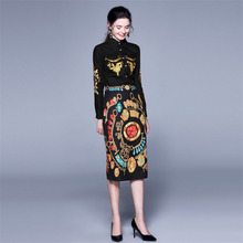 Autumn 2 Piece Set Women Floral Embroidery Vintage Print Designer Runway Pack Hip Skirt Spring Sets Two Piece Outfit New Fashion