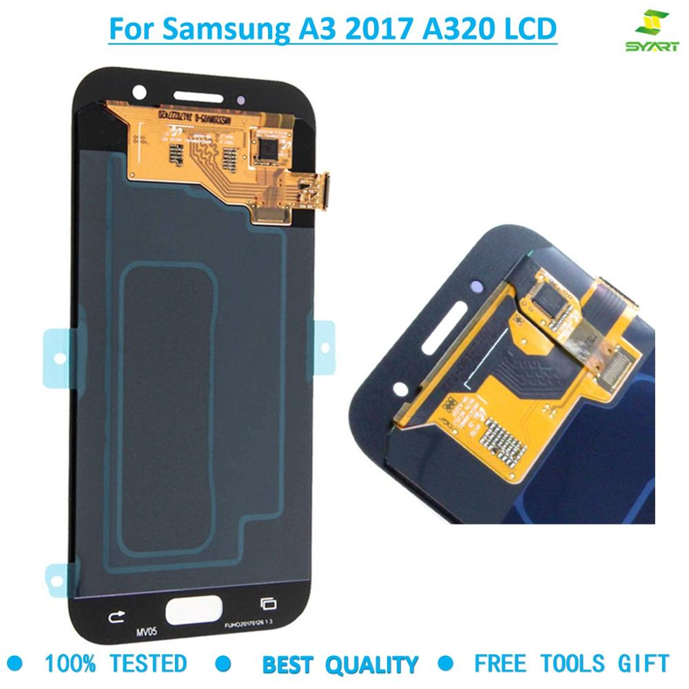 For <font><b>SAMSUNG</b></font> <font><b>A3</b></font> 2017 <font><b>Lcd</b></font> screen Touch Screen For <font><b>SAMSUNG</b></font> <font><b>GALAXY</b></font> <font><b>A3</b></font> 2017 <font><b>LCD</b></font> A320 SM-A320F A320F Display Digitizer Assembly image