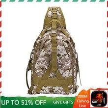 Outdoor Road Asia Bag Multi-function Wear Resistant Shoulder Messenger Bag Fishing Chest Bag Large Capacity Tactical Backpack