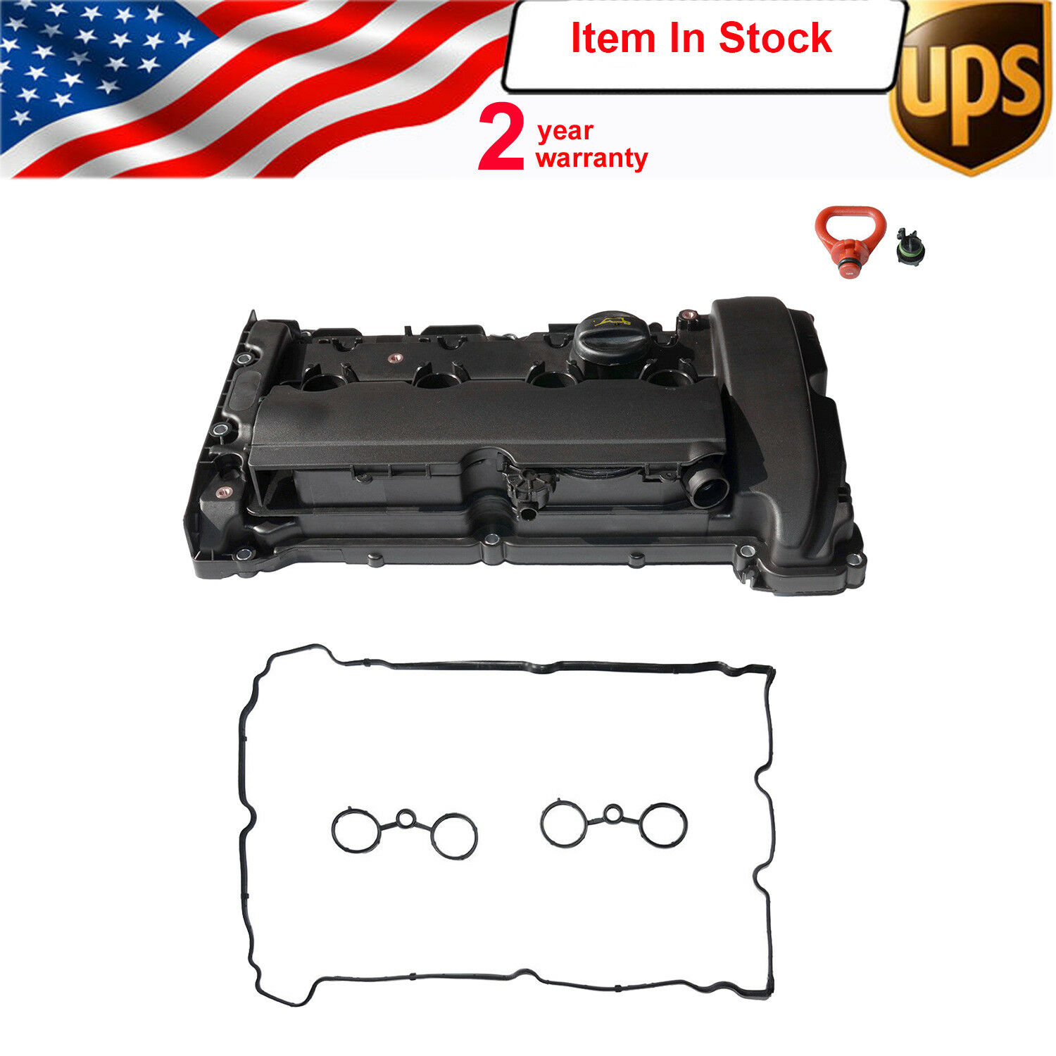 AP03 N14 For Mini R55 R56 R57 R58 R59 1 6T Cooper S JCW Engine Cylinder Valve Cover w  Gasket 11127585907 11127646555