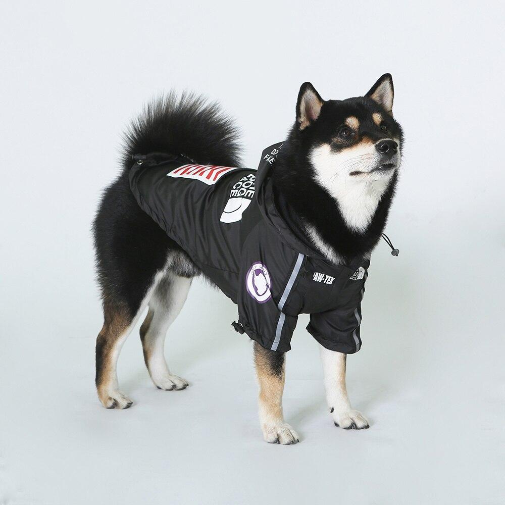 Комнатная собака Дождевик куртка одежда с защитой от ветра кошка собака куртка Модные Водонепроницаемый Светоотражающий ошейник для животных костюмы мелких домашних животных большой куртка для домашних животных-3