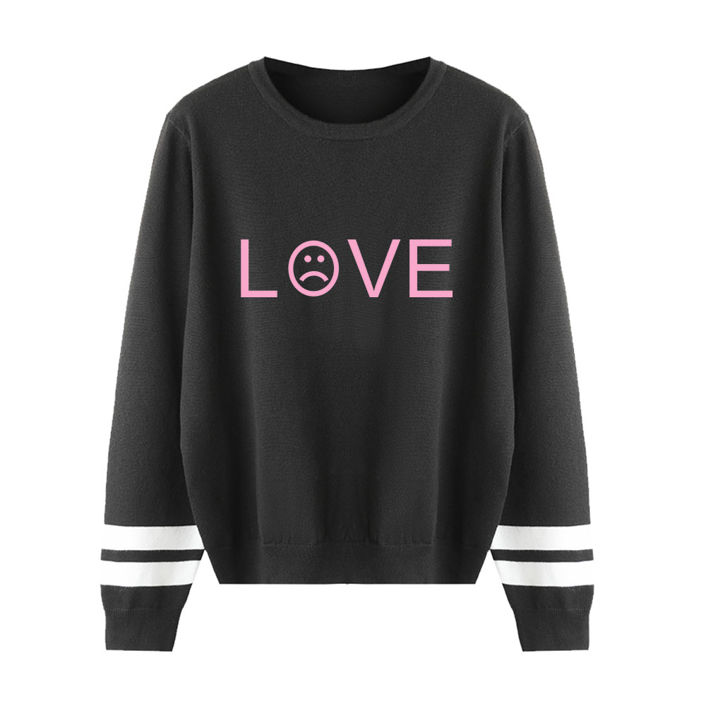 Sweater Autumn Lovers Knitted Sweater Lil Peep Classic Print O-neck Sweater Popular New Long Sleeve Casual Unisex Pullover Women