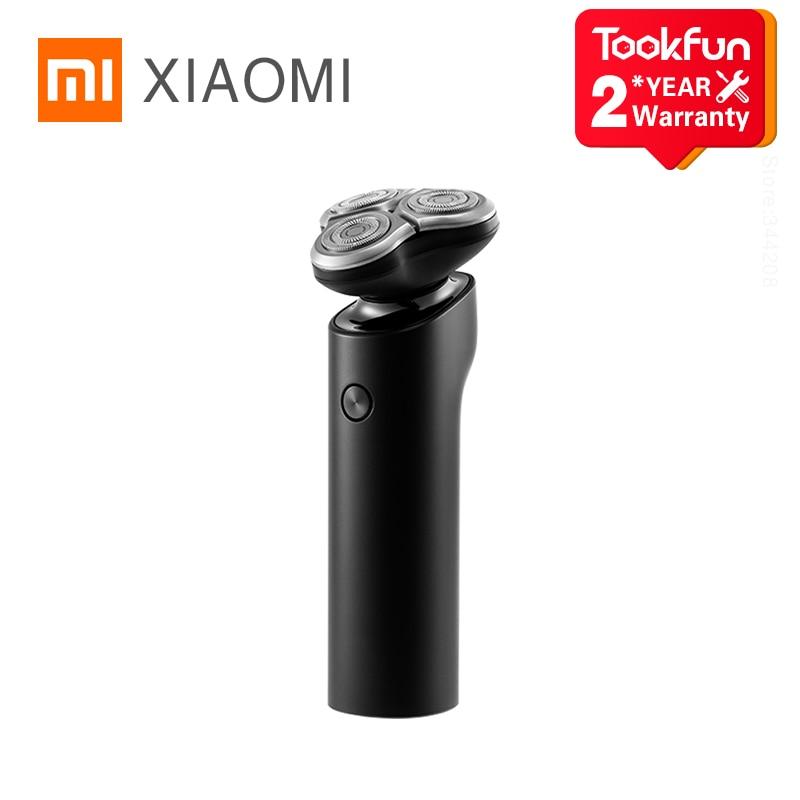 شاومي MIJIA ماكينة حلاقة كهربائية S500 المحمولة فليكس الحلاقة 3 رئيس الجافة الرطب الحلاقة قابل للغسل اللحية المتقلب trimer ذكي منخفض الضوضاء