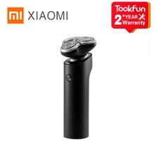 Xiaomi mijia barbeador elétrico s500 portátil flex navalha 3 cabeça seco molhado barbear lavável aparador de barba trimer inteligente baixo ruído