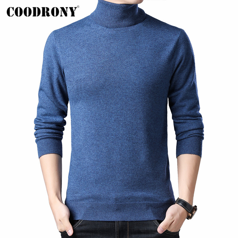 COODRONY Brand Turtleneck Sweater Men Winter Thick Warm Merino Wool Pullover Men Casual Pull Homme 2019 Cashmere Sweaters C3002