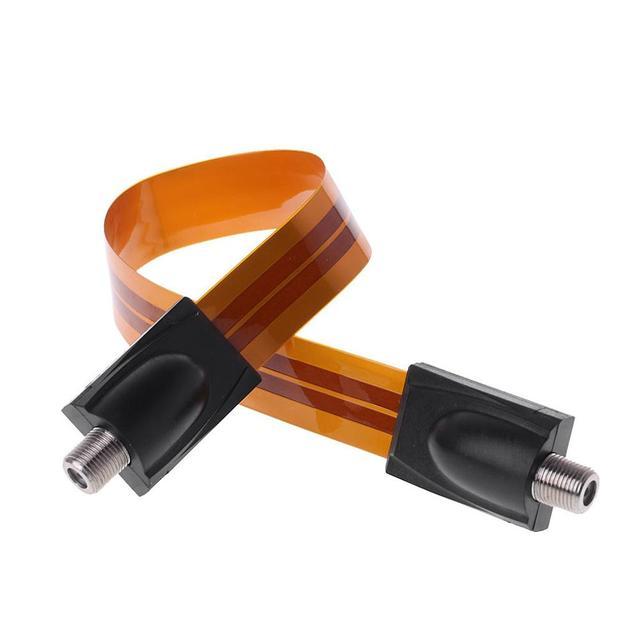 Płaski kabel koncentryczny żeński F złącze przekazać dom/okno samochodu drzwi antena satelitarna TV