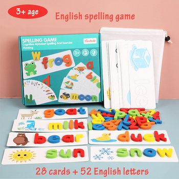 Montessori Toys For Kids English Spell Words Math Arithmetic Early Learning Educational Toys For Children Wooden Montessori Game