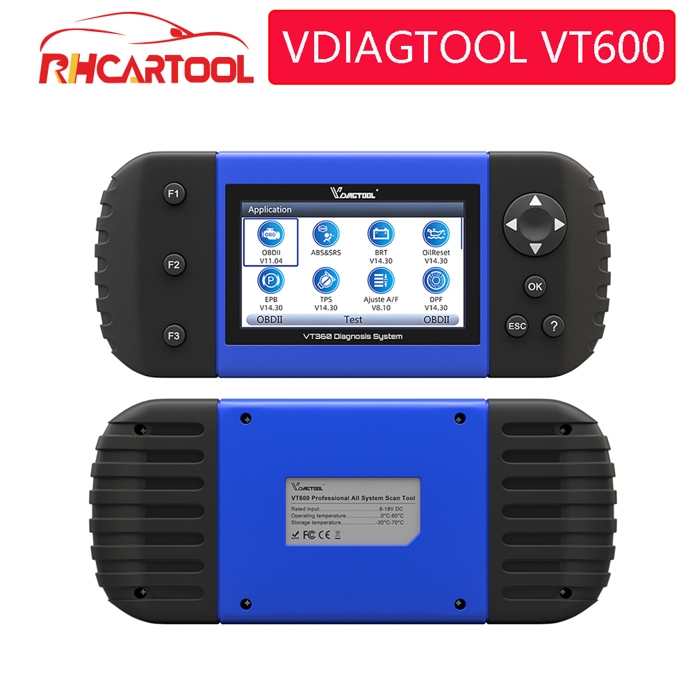 VDIAGTOOL Car Diagnostic VT600 OBD2 Scanner Tool working Brazil cars Engine ABS SRS EPB Coding OBD2 PK NT650 x100 pro crp129E-in Air Bag Scan Tools & Simulators from Automobiles & Motorcycles on