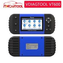 Vdiagtool diagnóstico do carro vt600 obd2 scanner ferramenta trabalhando brasil carros motor abs srs epb codificação obd2 pk nt650 x100 pro crp129e