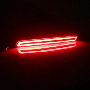Image 4 - GTinthebox 2x السوبر مشرق النمط الأوروبي LH RH الأحمر LED الوفير عاكسات الخلفية الفرامل الذيل مصابيح الضباب ل 2011 2015 فورد اكسبلورر