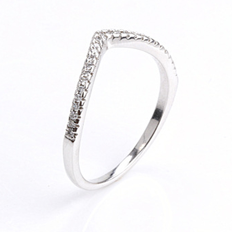925 Sterling Silver Water Droplet Clear CZ Finger Rings For Women Wedding Engagement Jewelry Girlfriend Gift