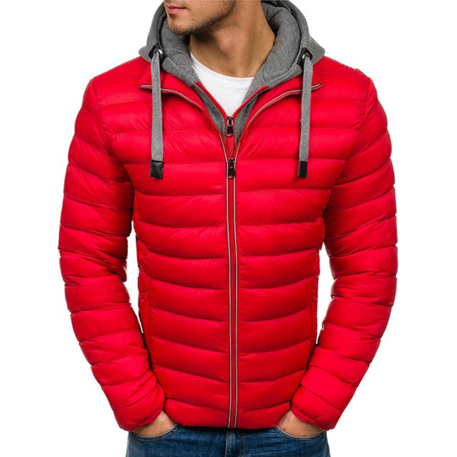 Zogaa 4 Colors Plus Size S-3XL Men's Fashion Autumn And Winter Hooded Puffer Cotton Coat Men Jacket