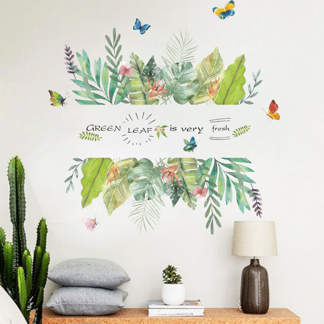 Creative Tropical Tree Leaf Stickers 2