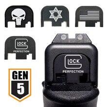 Алюминиевая задняя крышка для Gen 5 Glock 17 19 20 21 22 23 24 25 26 41 9 мм пистолет журнал Magwell аксессуары