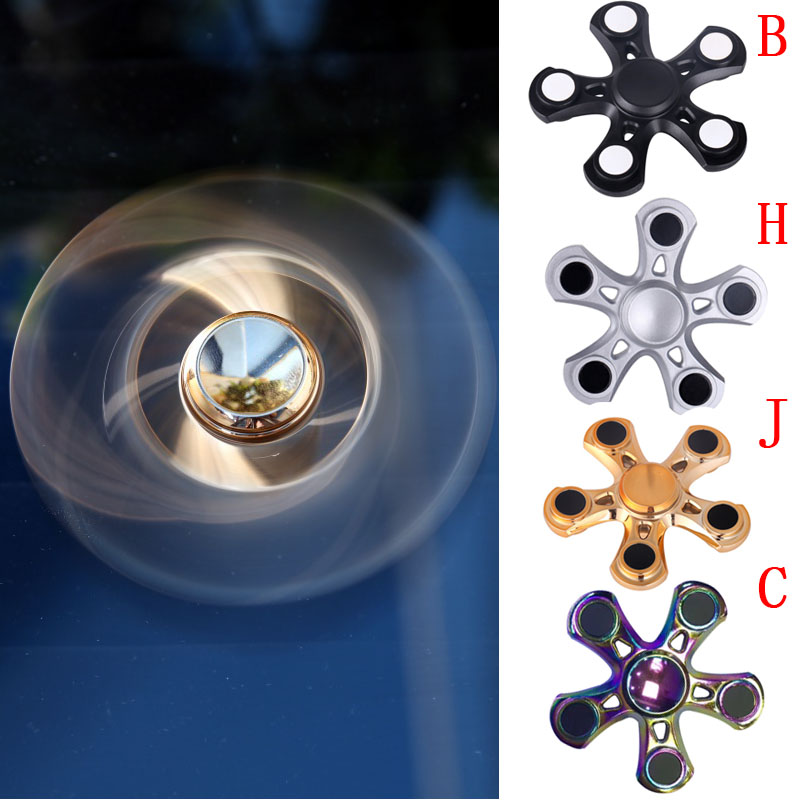 Hand Spinner Fingertip Kids Toys Gyro Tops Hand Finger Fidget Spinner Stress Top Ceramics Relief Reliever Spiral Science
