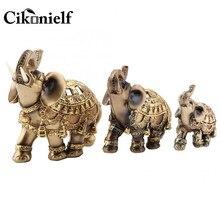 9cm 10cm 14 sorte feng shui elefante dourado estátua escultura riqueza elefantes tronco estátua estatueta presente para decoração de casa