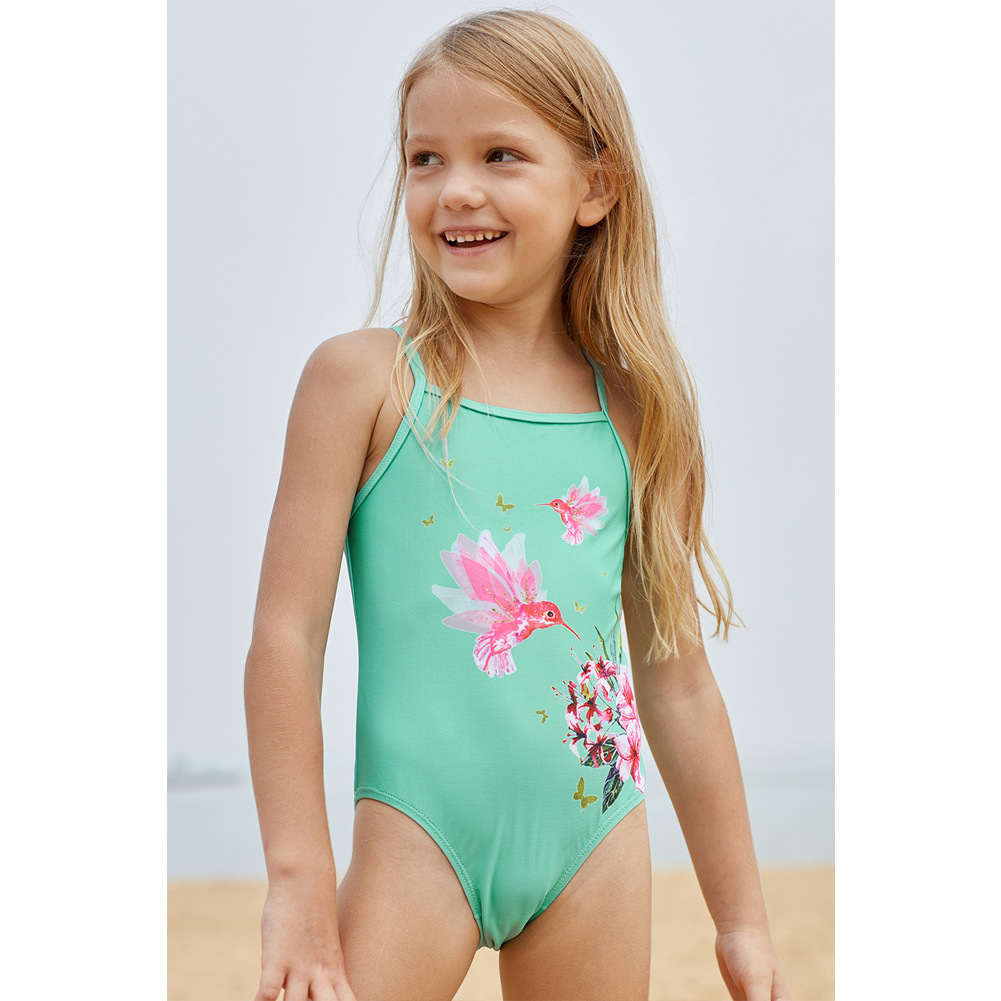 KID'S Swimwear GIRL'S One-piece Swimwear Cute Printed Europe And America Girls Hot Springs Bikini TZ410059