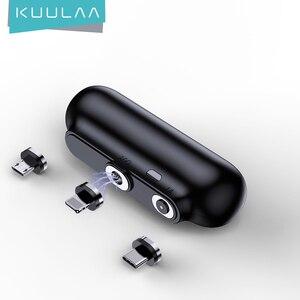 Магнитный внешний аккумулятор KUULAA на 2600 мАч, магнитное мини-зарядное устройство, внешний аккумулятор для экстренного мобильного телефона ...