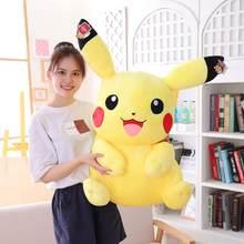 Peluche pikachu de grande taille, jouet elfe doux avec souris jaune, cadeau de noël pour enfants