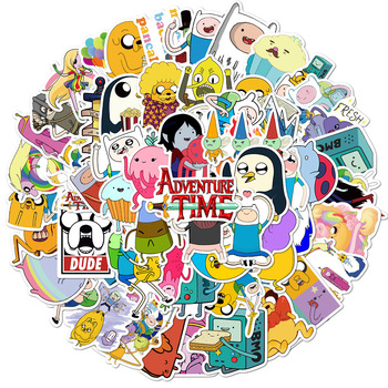 100PCS Anime Adventure Time Stickers Pack For Children DIY Stationery Laptop Phone Skateboard Travel Suitcase Cartoons Sticker molly moon s hypnotic time travel adventure