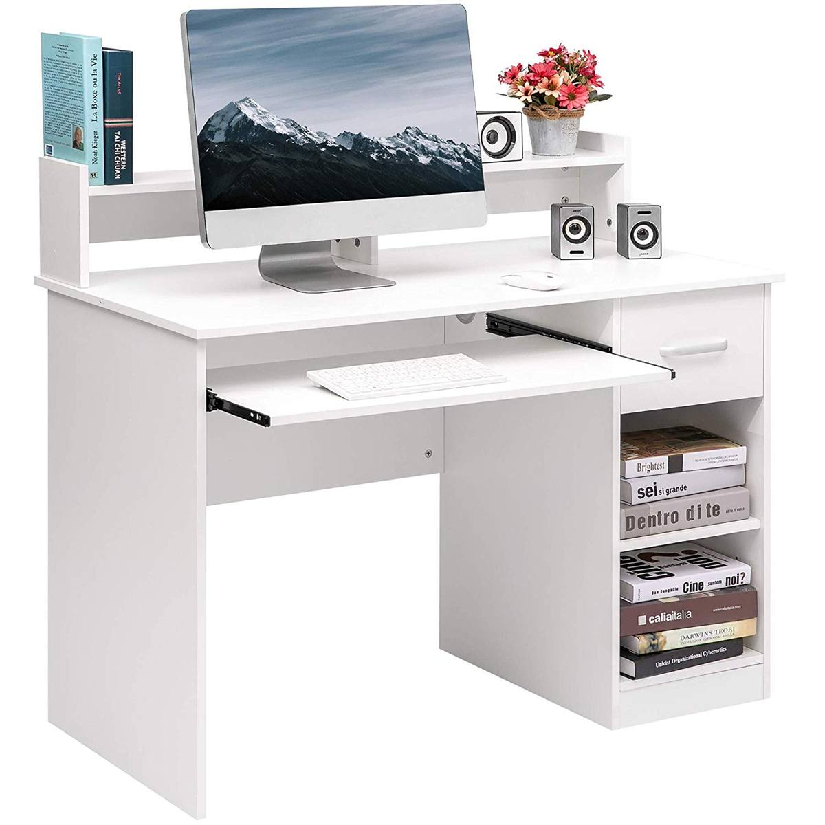Computer Table Wooden Durable Computer Desk Laptop Table Desktop Desk For Home Office Working Study Table Furniture