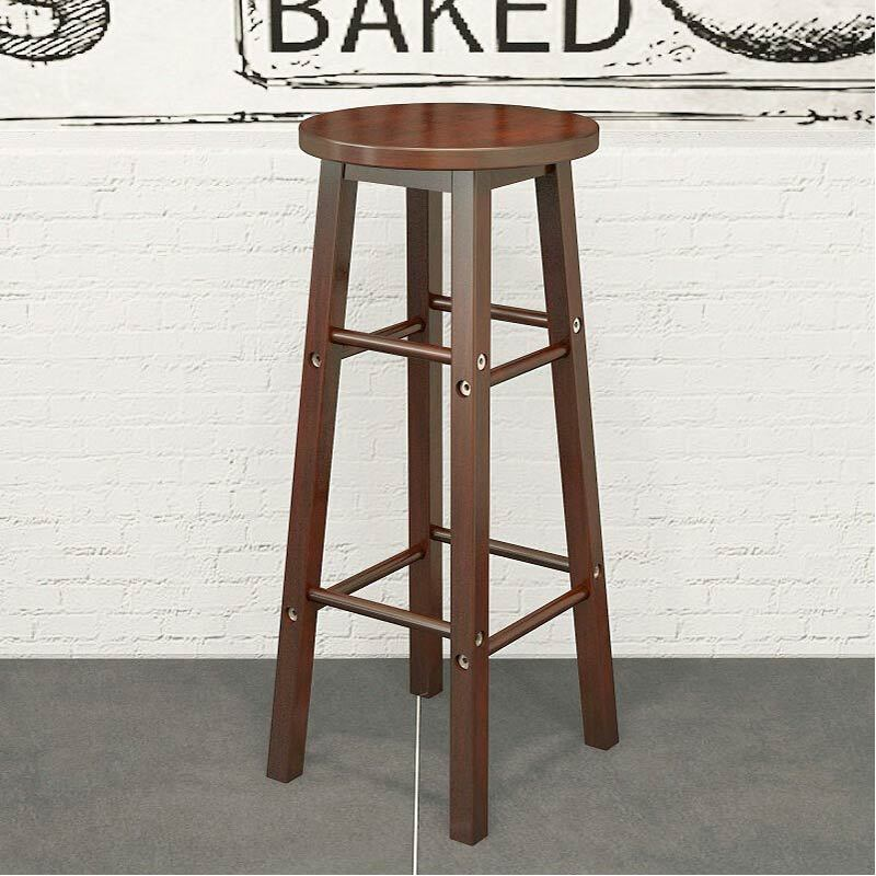 Solid Wood Bar Stool Chair Bar Bar Stool High Stool Coffee Shop Bar Restaurant Dedicated