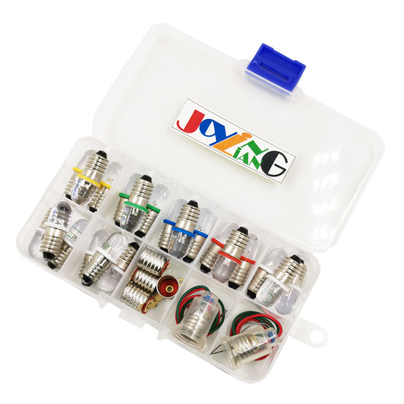 Multicolor Mixed E10 Screw LED Lights Signal Indicator DC3V 3.8V 4.5V Diode Led Lighting Beads 27pcs/Pack|Light Beads| |  - title=
