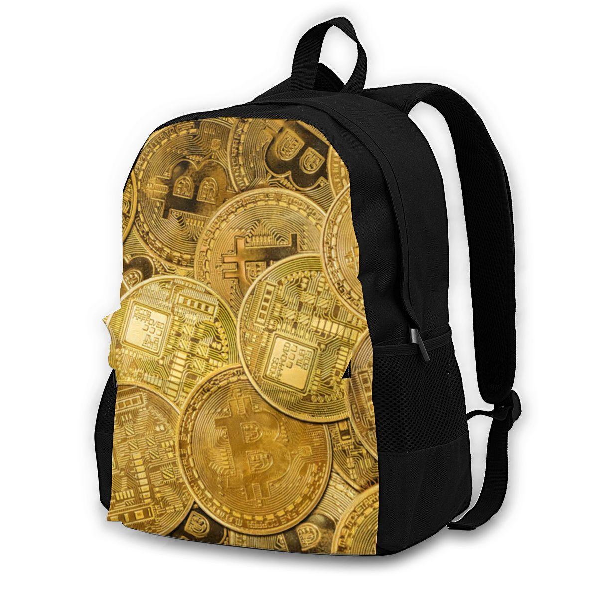 Bitcoin Backpacks Picnic Girl Print Backpack Fun Polyester Bags 1