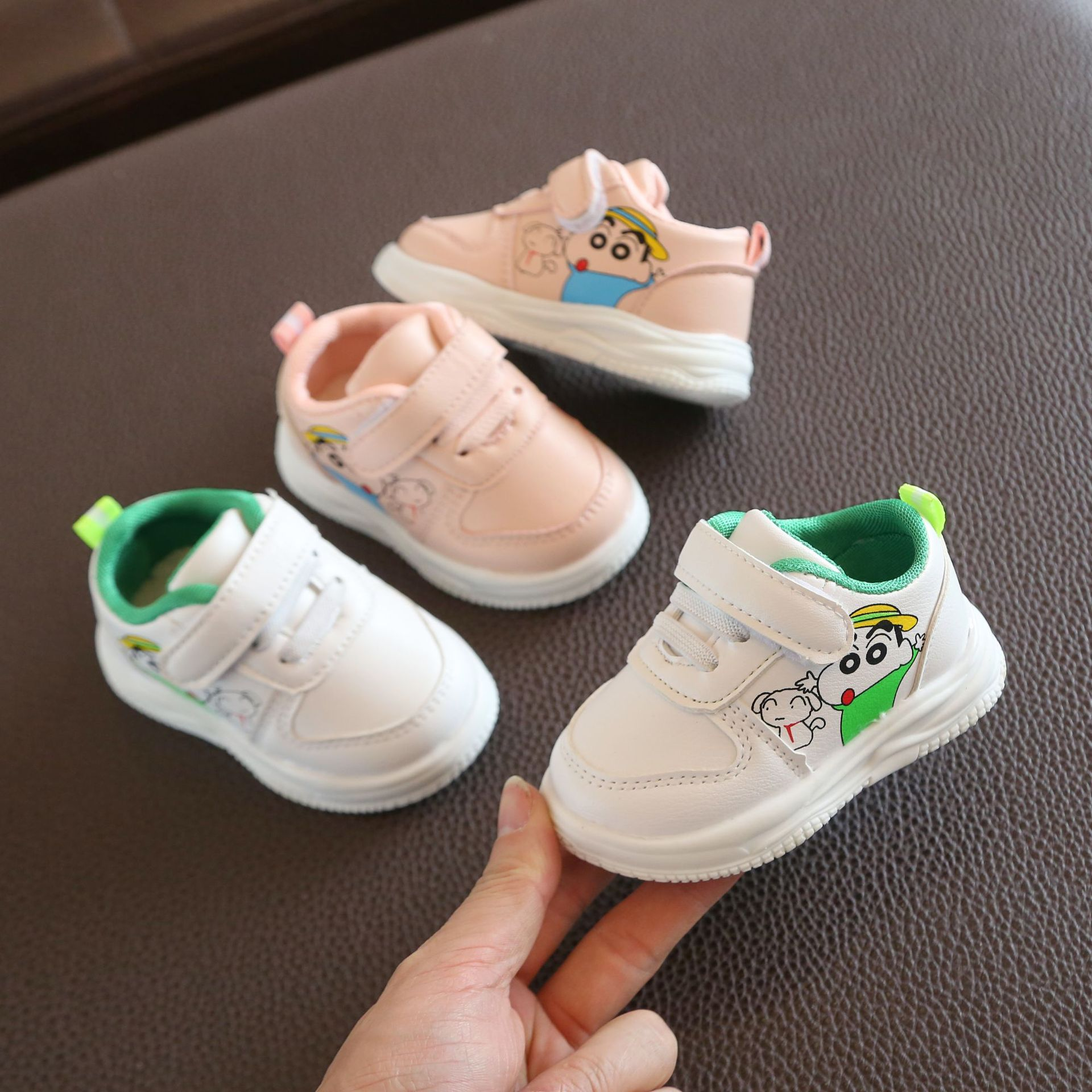 New Baby Girls Shoes Autumn Fashion Baby Boys Sports Shoes Leather Shoes First Walkers