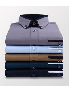 Men's Clothing Shirts Long-Sleeve White Formal High-Quality Slim-Fit Business Wedding