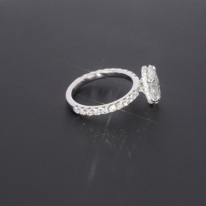 Image 4 - Starszuan Gioiello 14K DEF taglio ovale 8*10 millimetri 3ct moissanite test positivo VVS fantasia anello di fidanzamento per donna