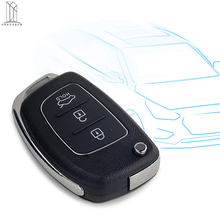 OkeyTech for Hyundai Accent Getz Coupe Azera Santa Elantra I30 IX35 Car Flip Key Cover Case Fob 3 Button HY20 Right Left Blade