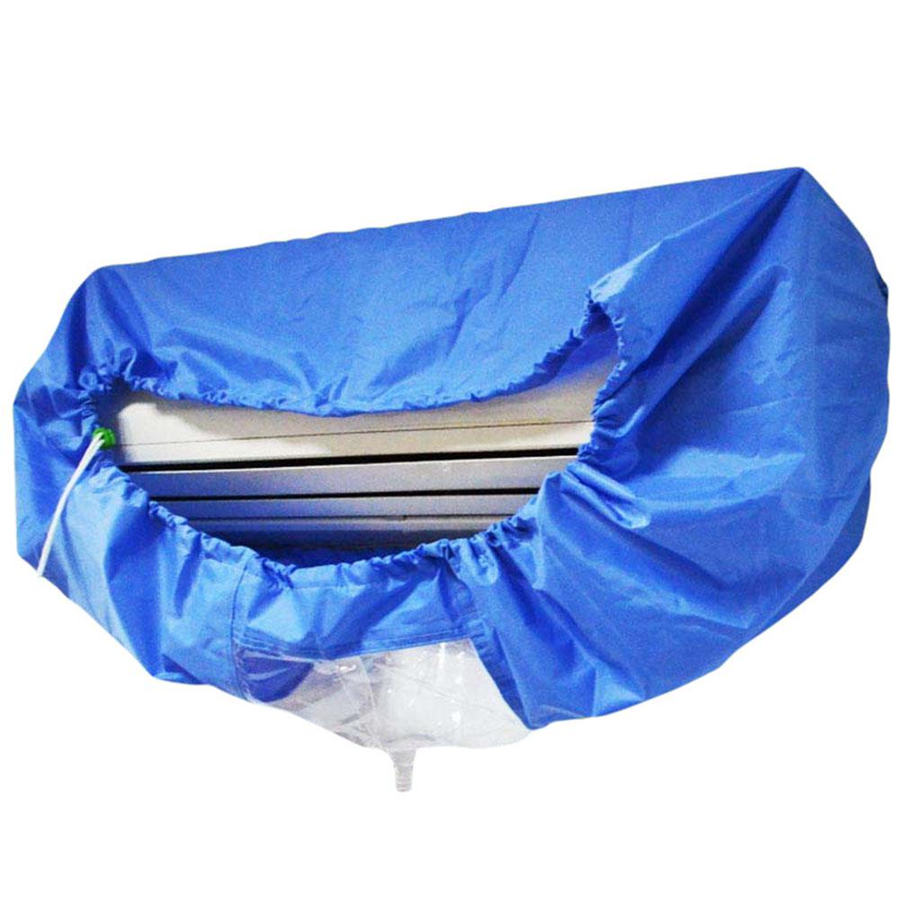 Blue Air Conditioner Cover Cleaning Dust Washing Cover Clean Waterproof Protector