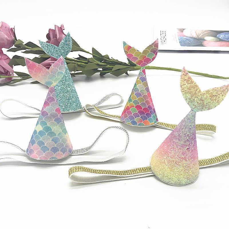 20*30cm Rainbow brokat Mermaid Faux sztuczne kokarda do włosów z syntetycznej skóry torby Patchwork rzemiosło materiały ręcznie robione DIY